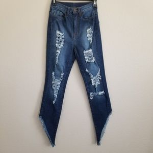 NWOT Aphrodite Distressed Jeans Size Small